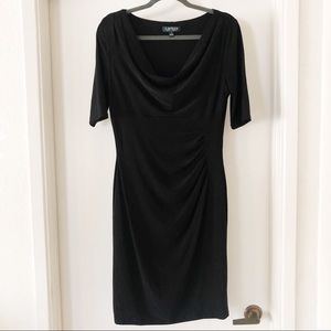lauren ralph lauren | black cowl neck dress, sz 12